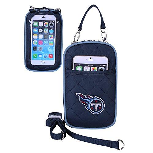 Charm14 Little Earth NFL Damen Umhängetasche, gestepptes Logo, passend für alle Handys, Damen, Tennessee Titans
