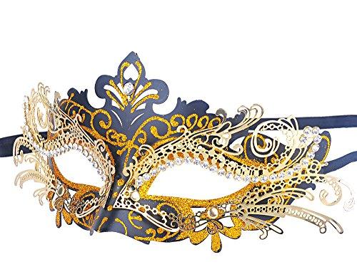 Karneval Masken (Venezianische Maske, Coofit Maskenball Masken Metall Maskerade Maske Masquerade Maske Venedig Maske Damen)