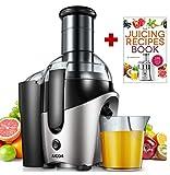AICOK Licuadoras para Verduras y Frutas Ovalado, Licuadora con 75MM de Boca Ancha, Doble Velocidad Extractor de Zumos, Alimenticio Llibre de BPA, Función Aanti-Goteo