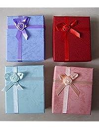 5pcs Nueva Cartón Cajas Anillo de Navidad caja de regalo para la joyería anillos de colores surtidos