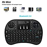 Jasnyfall Rii I8+ Bluetooth Wireless Keyboard 92 Keys Backlit Touchpad Multimedia Key-Color:Black