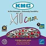 KMC X10 Vivid 10 Catena Velocità - Rosso