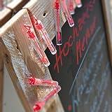 WeddingTree Premium Seifenblasen Set in rot- 48 teilig mit Herzgriff - herzallerliebst für Hochzeit Taufe Geburtstag Goldene Hochzeit Verlobung Valentinstag Gastgeschenk Party - 6