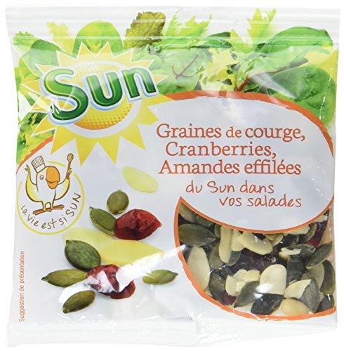SUN Mélange pour Salade Cranberry Courge Amande Effilée 50 g - Lot de 10