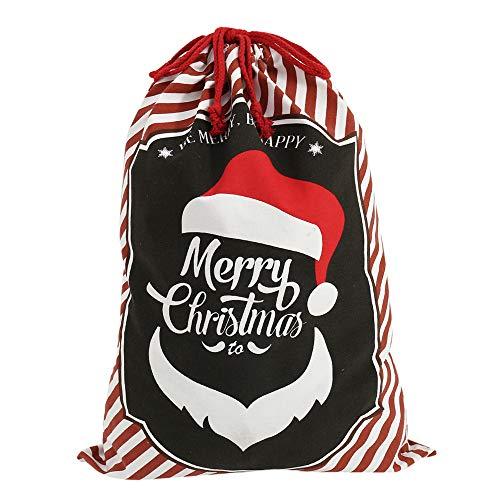 Surfmalleu Bolsa Vintage Calcetín Navidad Regalo