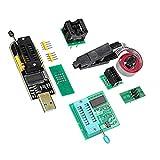 Lorsoul 4PCS TV Set Memory Test Burning Board Clip + CH341A Programmatore USB + Adattatore 1 8 V + Adattatore SOIC8