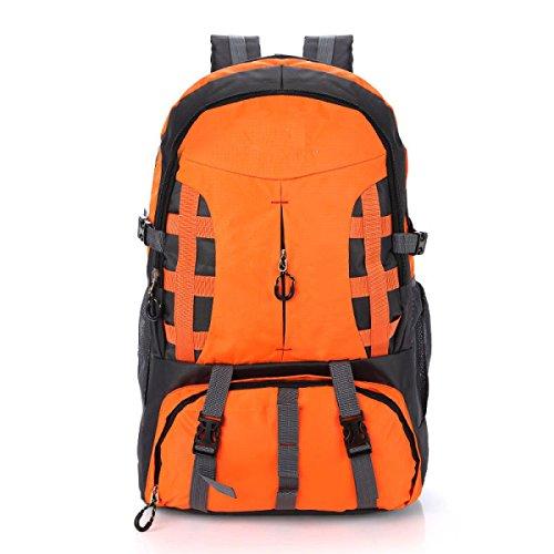 LQABWLarge Kapazität Rucksack-im Freienbergsteigen Tasche 60L Männer Und Frauen Reisen Wasserdichter Rucksack- Orange