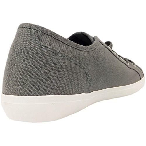 Voi Baskets pour homme uni en toile à lacets de chaussures de sport à 6, 7, 8, 9, 10 11 Gris - gris