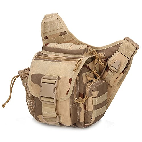 2016Hip Pack militare Tactica vita Packs impermeabile Marsupio Cintura Marsupio Borsa da Sella Climb Borsa Uomo Borsa a tracolla, sand camo sand camo