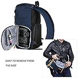 K&F Concept® Kamerarucksack Rucksack Kamera Fotorucksack für Canon Nikon Sony SLR Spiegelreflexkamera mit Regenschutzhülle 16 Liter Blau Test
