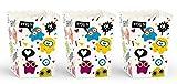 Unbekannt PartyDeco Conf. 6 Pappkartons für Popcorn und Bonbons mit süßen Hindernissen, Mehrfarbig