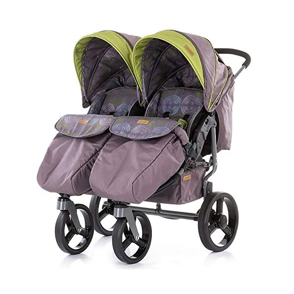 Chipolino Twix Pushchair Brown Chipolino Twin pushchair folds easily with automatic locking From birth, sun canopy with window and pockets Backrest can be adjusted to 5 different sitting and lying positions independently of each other 1