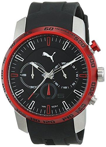 Puma - Orologio da polso, Uomo, Cronografo, cinturino nero