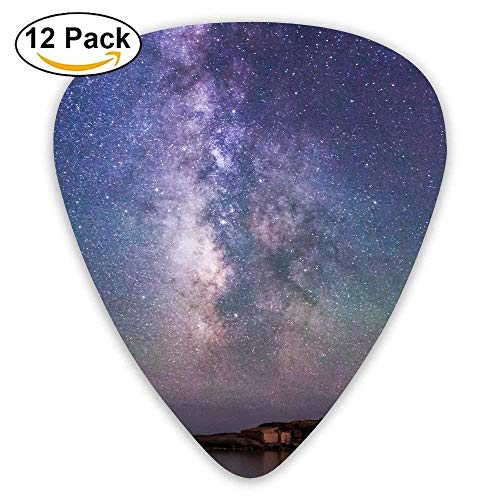 Iceland Night Sky Stars Northern Lights Guitar Pick 12pack Ivory Night Light
