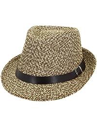 Zhhlinyuan Mujeres Verano Jazz Sombrero Sombrero Plegable de Panamá Protección Solar Viajes de Vacaciones