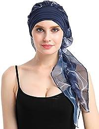 FocusCare La quimioterapia para cancer turbante mujeres Cómodo tejido de bambu Headwear