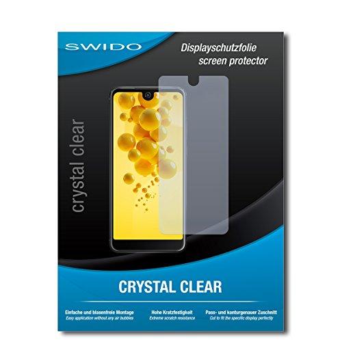 SWIDO Schutzfolie für Wiko View 2 [2 Stück] Kristall-Klar, Hoher Härtegrad, Schutz vor Öl, Staub & Kratzer/Glasfolie, Bildschirmschutz, Bildschirmschutzfolie, Panzerglas-Folie