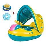Bambino galleggiante con anello da nuotata a baldacchino Anello di nuoto piscina per barche gonfiabile con anello di nuoto per piscina