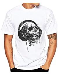 SHOBDW Camiseta de Hombre, Muchacho Más la Camiseta Verano de la Impresión de Manga Corta Talla Grande de Camiseta