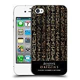 Head Case Designs Offizielle Assassin's Creed Schwarze Hieroglyphen Entstehungen Muster Ruckseite Hülle für iPhone 4 / iPhone 4S