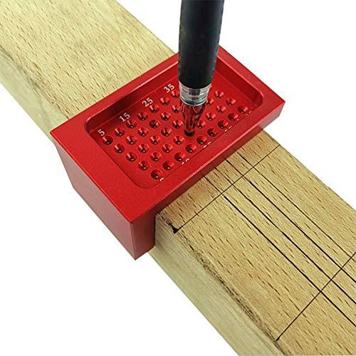 Taglierino per falegnameria, multifunzione, in lega di alluminio, strumento a T, per posizionamento dei fori, strumento per carpenteria, 68 mm