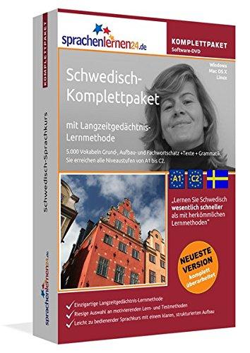 Schwedisch-Komplettpaket: Lernstufen A1 bis C2. Fließend Schwedisch lernen mit der Langzeitgedächtnis-Lernmethode. Sprachkurs-Software auf DVD für Windows/Linux/Mac OS X