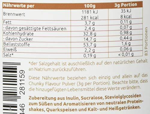 sinob & More Nutrition - Chunky Flavour (Keks mit Keksstückchen) + Laktase 100.000 FCC. Geschmackspulver Mit Echten Keksstückchen. 1 x 250g