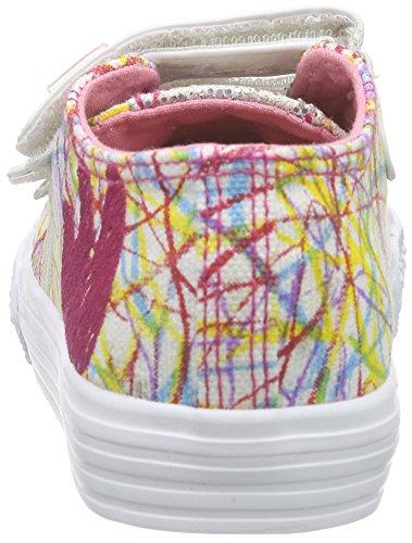 Agatha Ruiz de la Prada - Basplach, Sneaker Bambina Bianco (Blanc (A Blanco Y Estampado Lio Lona))