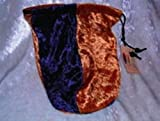Dice Bag:Velvet: Navy Blue & Gold by Gallant Hand Gamers Gear
