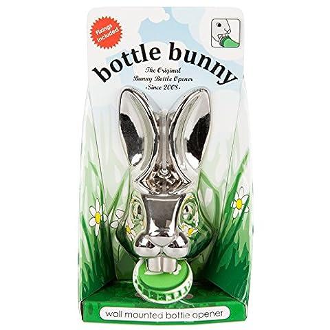 Bunny Flaschenöffner Wand montiert Cool Bier Gap Robuste Chrom Metall Kaninchen Kopf (Bier Kaninchen)