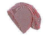 shenky Rot Weiß gestreift Langer Jersey Beanie Mütze Hut Haube