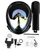 Diving Masks Full Face, 4 Colors Snorkel Mask 180° Full Face Snorkeling Mask