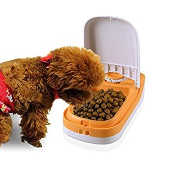 Wopet 185g Distributeurs automatiques de nourriture avec minuterie pour chat et chien,1 repas