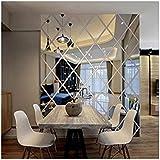 Ayzr Diamant Driehoek Muur Kunst Acryl Spiegel Muurstickers Huis Decoratie 3D DIY Muurstickers Kunst Voor Woonkamer Wooncultu