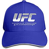 Huseki UFC Ultimate Fighting Championship Logo Flex Baseball Cap Black Royalblue