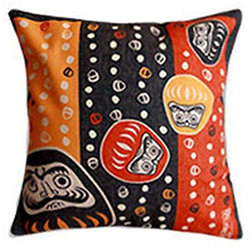 Black Temptation Style Japonais Coussin d'oreiller Confortable pour la Maison/Sushi Restaurant 45x45cm -A16
