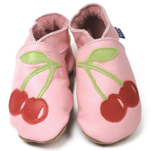 Inch Blue - 0603 M - Chaussures Bébé Souples - Cherry - Rose / Rouge - T 19-20 cm - 6-12mois