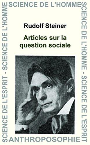 Articles sur la question sociale par Rudolf Steiner