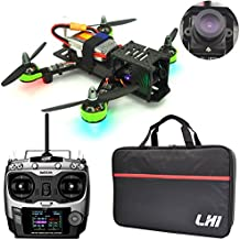 LHI FPV RTF Full Carbon Fiber 220 mm Quadcopter Race Copter Racing Drone with Radiolink AT9 Remote Controller 1000TVL Camera (Assembled)
