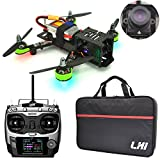 LHI FPV RTF Full Carbon Fiber 220 mm Quadcopter Race Copter Racing Drone with Radiolink AT9 Remote Controller 1000TVL Camera TS5828(Assembled)