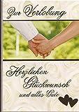 Glückwunschkarte Zur Verlobung - Herzlichen Glückwunsch und alles Gute - DEP 019