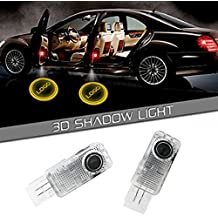LIKECAR Luce di benvenuto a LED con logo per portiera, per Mercedes-Benz Classe E W211 2003-2007/2009, Mecedes-Benz W240, W124, W201, W202, W126, W209, W203 Classe C, SLK, CLK, Cabrio SLR R171 R199 W208, 3D Videoproiettore, a tenuta idraulica, confezione da 2 pezzi