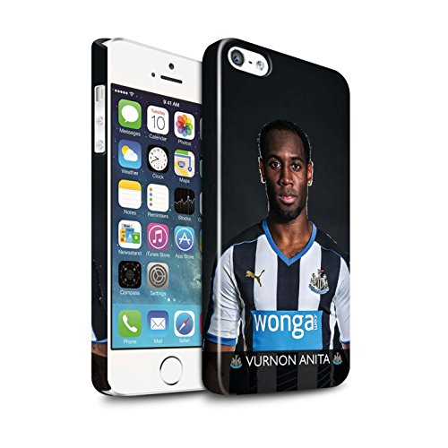 Offiziell Newcastle United FC Hülle / Glanz Snap-On Case für Apple iPhone SE / Lascelles Muster / NUFC Fussballspieler 15/16 Kollektion Anita