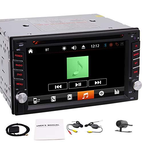 EINCAR Universal Car Doppel Din in Dash GPS Navigation kapazitiven Touch Screen des Auto-2DIN DVD-CD-MP3-Player Bluetooth-USB-SD-FM/AM RDS Radio-Autoradio Car Deck Stereo + Free B (Deck Für Auto Dvd-player)