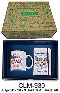 RM- Set libreta y Taza mug con Mensaje Hakuna Matata Sets de Material Escolar (1)