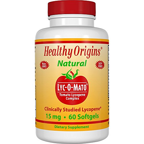 15 Mg Softgels (Healthy Origins, Lyc-O-Mato, Tomaten Lycopin Complex, 15 mg, 60 Kapseln)