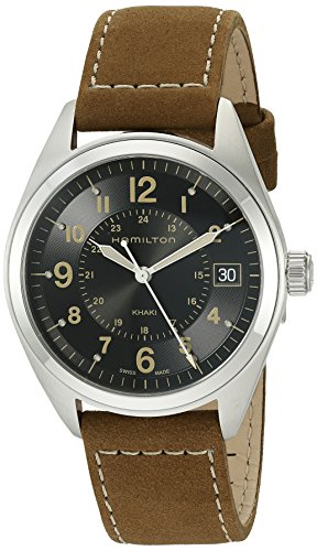 Hamilton Men's H68551833 Khaki Field Analog Quartz Brown Watch