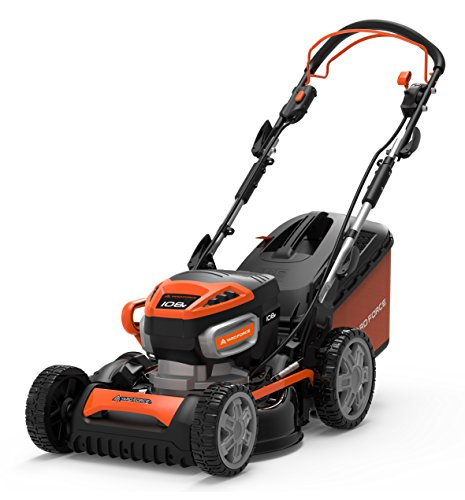 Yard Force tondeuse à gazon rotative sans fil 46cm, avec batterie Lithium-Ion 108V et Torque-Sense Technology