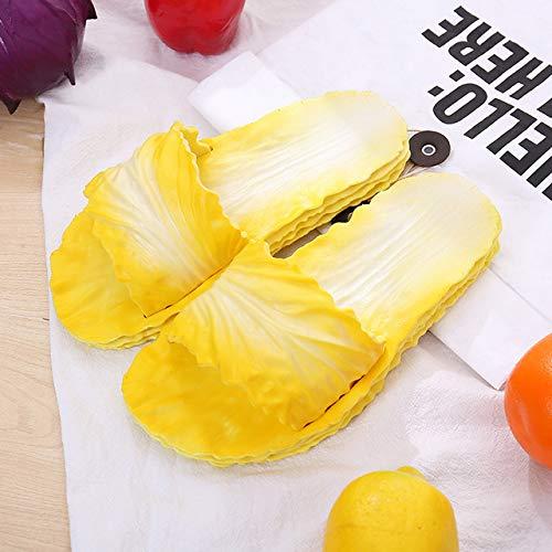 Hausschuhe - Sommer Lustige Net Red Explosion Kohl Chinese Fun Hausschuhe Kreative Freizeit Home Bad Schuhe Mode Hausschuhe Frauen,Yellow,36/37