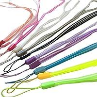 Da.Wa 12X Acollador para Teléfonos Móviles Correas de Cuello Acollador de Estilo de Transparente multicolor(Color al Azar)